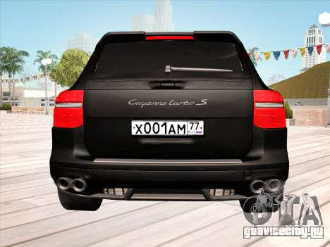 Porsche Cayenne Turbo S 2010 Stock для GTA San Andreas вид сверху