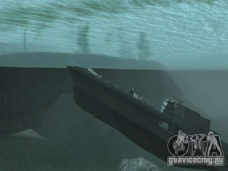 Затонувший корабль v2.0 Final для GTA San Andreas второй скриншот