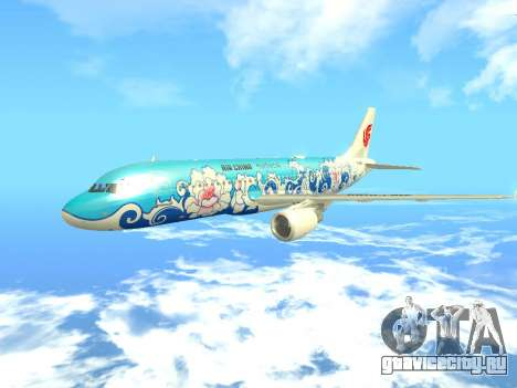 Airbus A320 Air China для GTA San Andreas вид изнутри