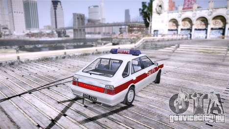Daewoo FSO Polonez Caro Fire для GTA 4 вид сзади слева