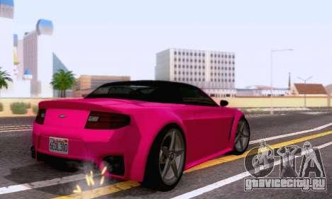GTA V Rapid GT Cabrio для GTA San Andreas вид сзади