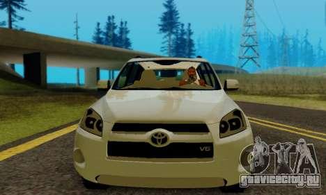 Toyota RAV4 для GTA San Andreas вид сзади