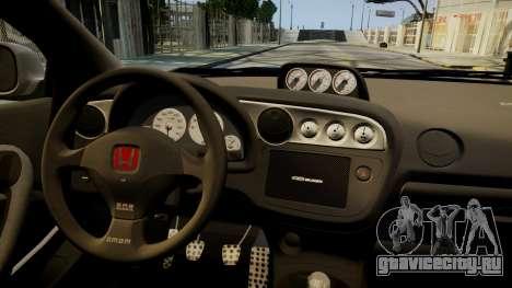 Honda Mugen Integra Type-R 2002 для GTA 4 вид изнутри