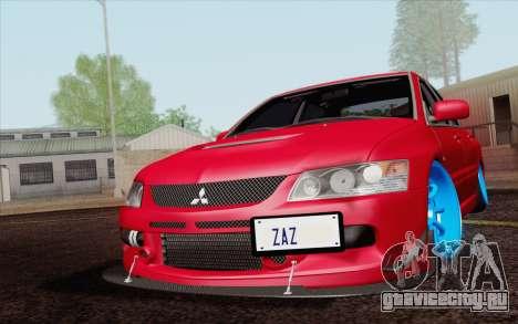 Mitsubishi Lancer MR Edition для GTA San Andreas вид изнутри