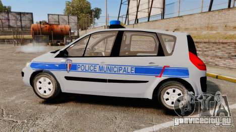 Renault Scenic Police Municipale [ELS] для GTA 4 вид слева