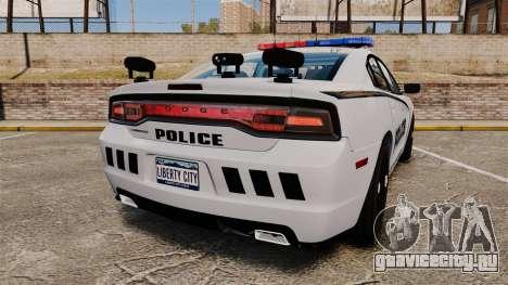 Dodge Charger 2011 LCPD [ELS] для GTA 4 вид сзади слева