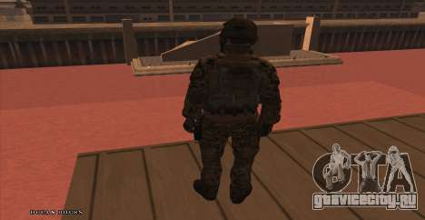 Global Defense Initiative Soldier для GTA San Andreas третий скриншот