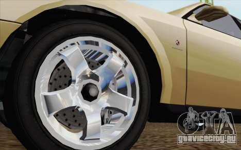 GTA IV Sultan для GTA San Andreas вид сзади слева