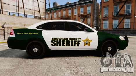 Chevrolet Impala 2010 Broward Sheriff [ELS] для GTA 4 вид слева