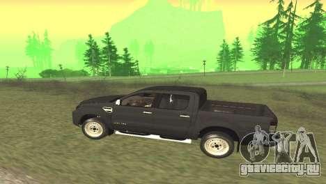 Ford Ranger Limited 2014 для GTA San Andreas вид справа