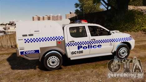 Toyota Hilux Police Western Australia для GTA 4 вид слева