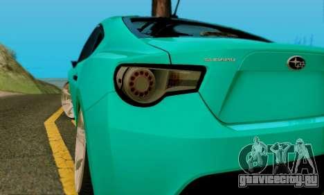 Subaru BRZ для GTA San Andreas вид сбоку