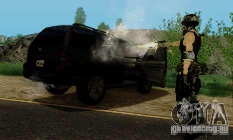 SWAT GIRL для GTA San Andreas седьмой скриншот