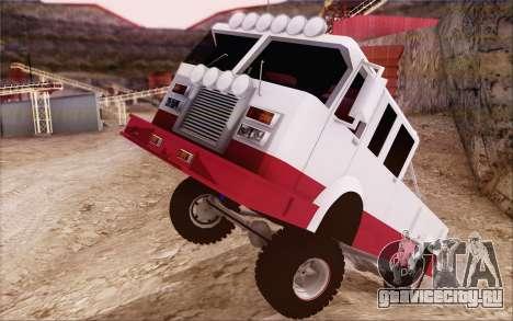Offroad Firetruck для GTA San Andreas вид справа