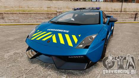 Lamborghini Gallardo Gendarmerie National [ELS] для GTA 4