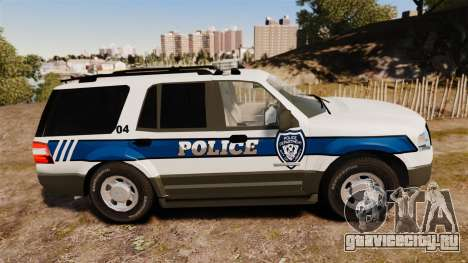 Ford Expedition LCPD SSV v2.5F [ELS] для GTA 4 вид слева