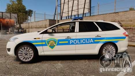 Ford Mondeo Croatian Police [ELS] для GTA 4 вид слева