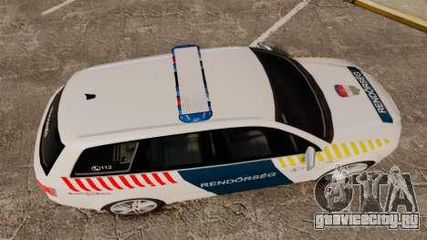 Audi S4 Avant Hungarian Police [ELS] для GTA 4 вид справа