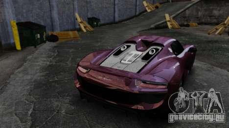 Porsche 918 Spyder для GTA 4 вид сбоку