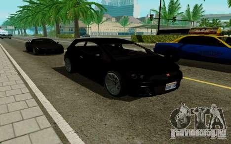 Dinka Blista GTA V для GTA San Andreas вид сзади слева
