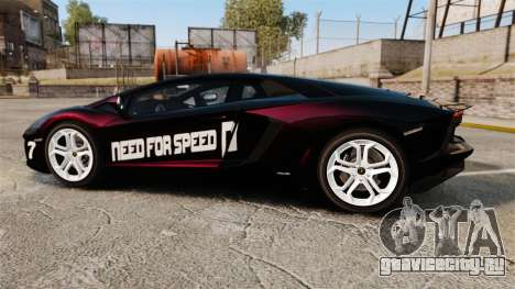 Lamborghini Aventador LP700-4 2012 [EPM] NFS для GTA 4 вид слева