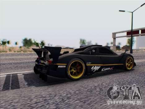 Pagani Zonda R 2009 для GTA San Andreas вид сзади слева