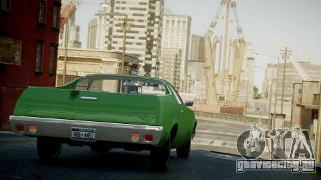 Chevrolet El Camino 1973 Old для GTA 4 вид сбоку