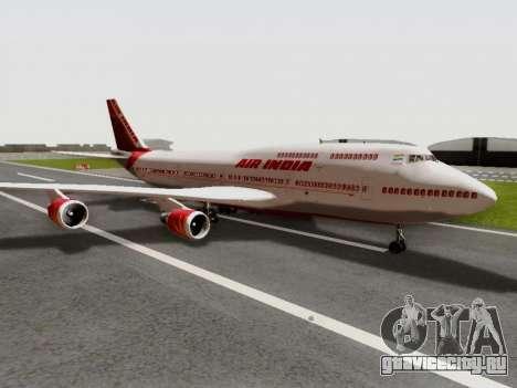 Boeing 747 Air India для GTA San Andreas вид сзади слева