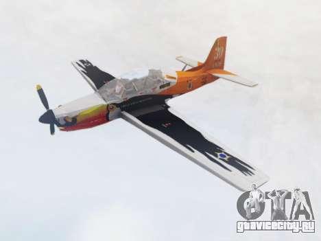 Embraer T-27 Tucano 30 Anos для GTA San Andreas вид сзади слева