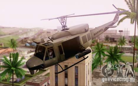 Bell UH-1N Twin Huey для GTA San Andreas вид сзади слева