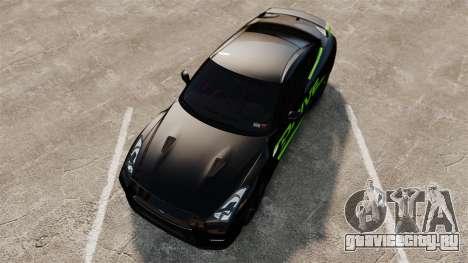 Nissan GT-R Black Edition 2012 Drive для GTA 4 вид справа