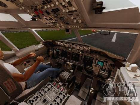 Boeing 737-800 Jet2 для GTA San Andreas вид изнутри
