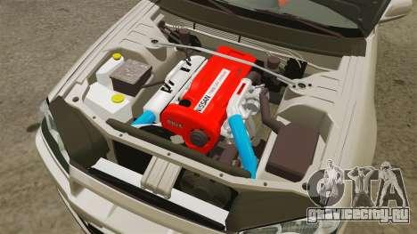 Nissan Skyline GT-R R34 V-Spec II для GTA 4 вид изнутри