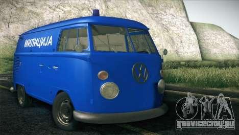 Volkswagen T1 Milicija для GTA San Andreas