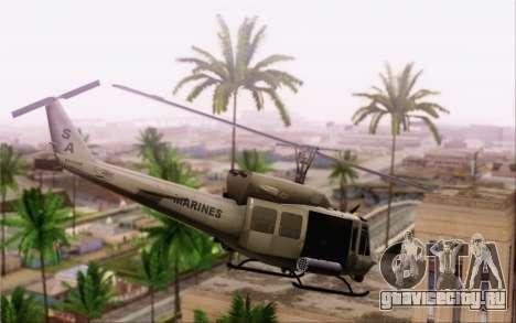 Bell UH-1N Twin Huey для GTA San Andreas вид слева