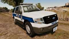 Ford Expedition LCPD SSV v2.5F [ELS] для GTA 4