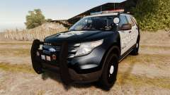 Ford Explorer 2013 LCPD [ELS] Black and Gray для GTA 4