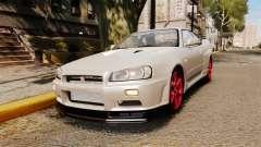 Nissan Skyline GT-R R34 V-Spec II для GTA 4