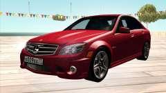 Mercedes-Benz C63 AMG HQLM для GTA San Andreas