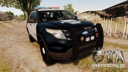 Ford Explorer 2013 LCPD [ELS] Black and Gray для GTA 4