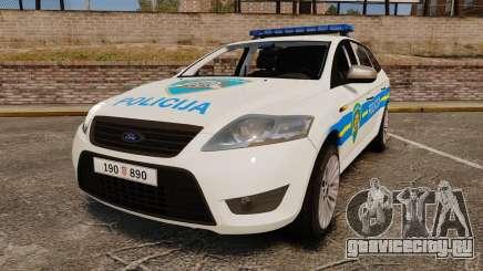 Ford Mondeo Croatian Police [ELS] для GTA 4