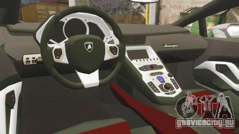 Lamborghini Huracan Hungarian Police [ELS] для GTA 4 вид изнутри