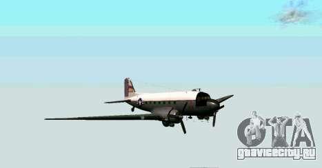 C-47 Дакота USAF для GTA San Andreas вид слева