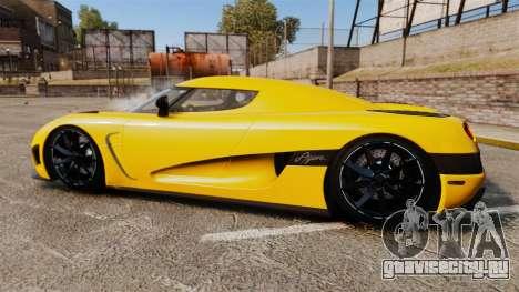 Koenigsegg Agera TE [EPM] для GTA 4 вид слева