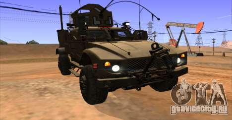 M-ATV из Call of Duty: Ghosts для GTA San Andreas вид изнутри