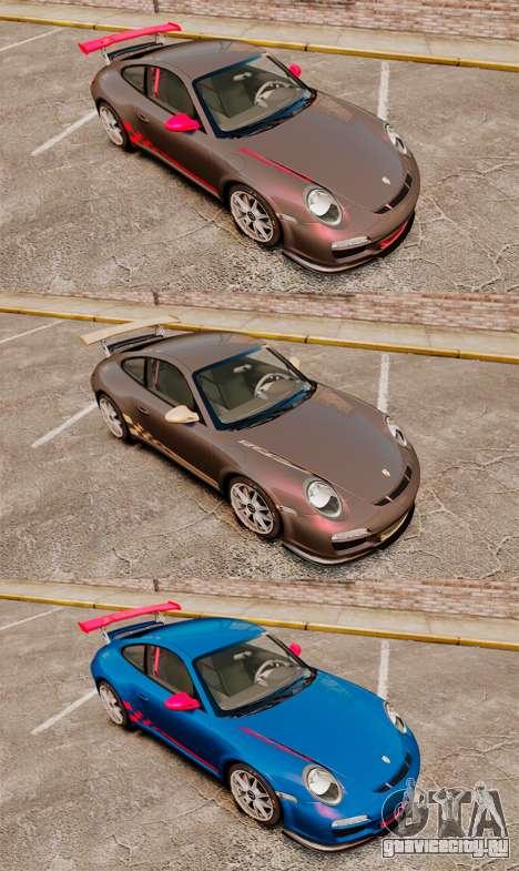Porsche 997 Carrera GT3 RS для GTA 4 вид изнутри