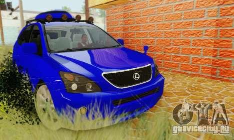 Lexus RX400h 2010 для GTA San Andreas вид справа