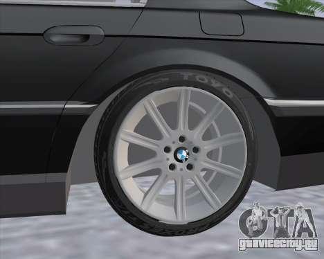BMW 7-series E38 для GTA San Andreas вид сзади слева