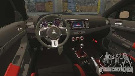 Mitsubishi Lancer Evolution X FQ400 (Cor Rims) для GTA 4 вид сверху