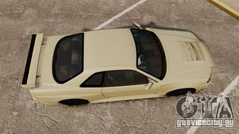 Nissan Skyline R34 Nismo Z-Tune для GTA 4 вид справа